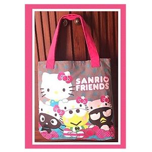Hello kitty and friends canvas tote bag.EUC